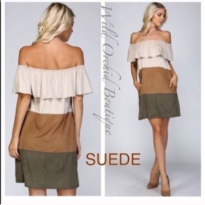 •Closeout•Suede Dress